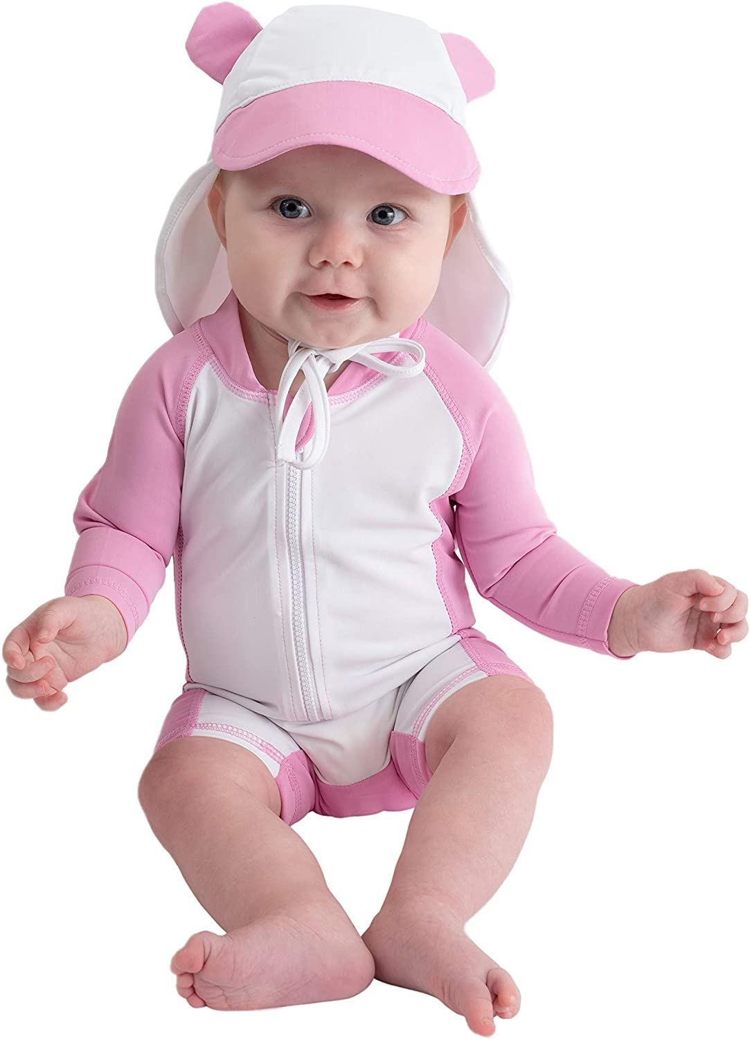 UPF 50 Cuddle Club Baby and Toddler One-Piece Swimsuit All-Day UV Protection Infant Sunsuit