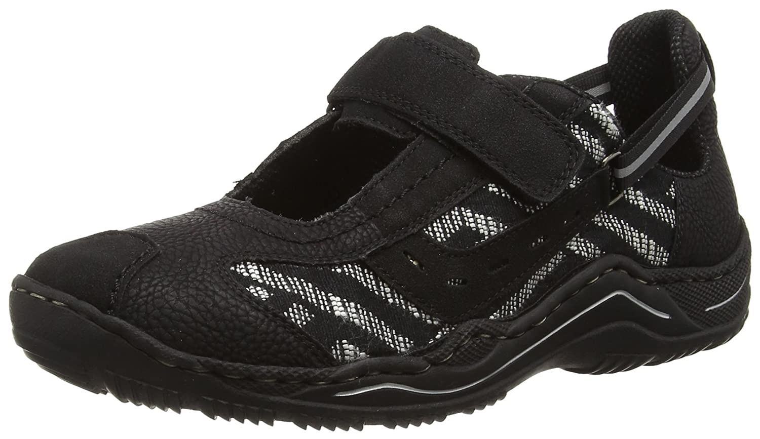 Rieker L0570 Women Low Top, Damen Sneakers, Schwarz (schwarz