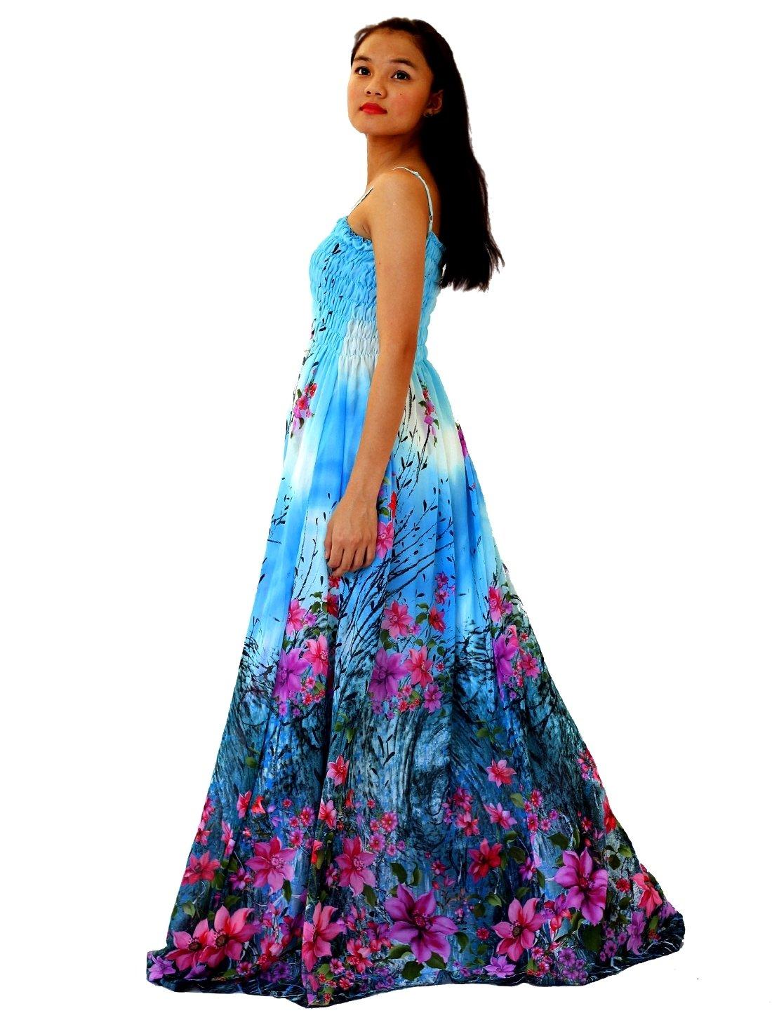 Maxi Dress Women Plus Size Tall Full Length Hawaiian Summer ...
