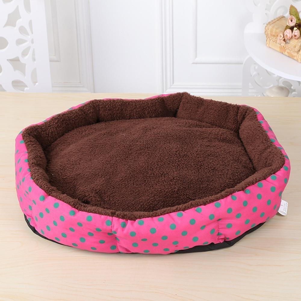 BiuTeFang cestino per cani cuscino lavabile per animali da compagnia compagnia compagnia forniture rotondo onda punto chenil cane tappeto peluche flanella, Poliestere 40  30 cm Materasso animali aff383