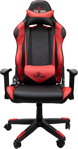 Yeyian Gaming Chair Office Computer Ergonomic Video Game Chair Backrest and Seat Height Adjustable Swivel Recliner