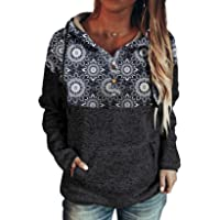 Women Casual Tunics Sweatshirt Tops Long Sleeve Cowl Neck Shirts Blouse Twist Knot