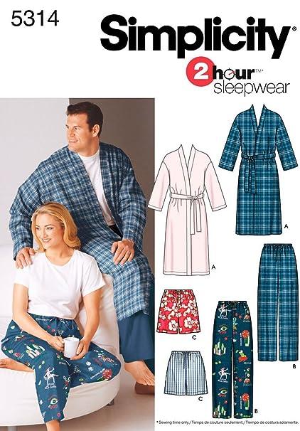 f2cf7c6cdc Amazon.com  Simplicity Men And Women s 2 Hour Sleepwear Pajama ...