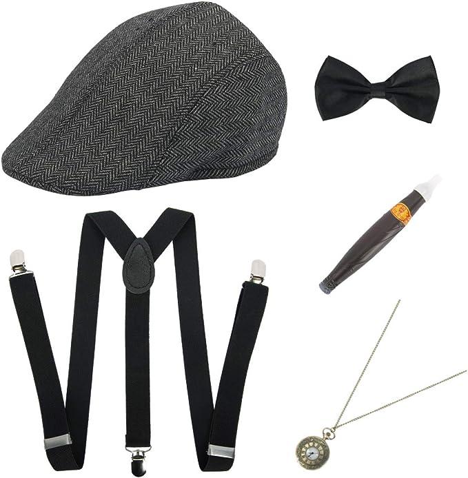 ShiyiUP 5pcs Disfraces con Accesorios para Mujeres 1920s Flapper ...