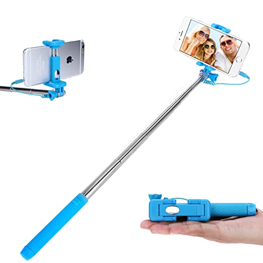 12 opinioni per Asta per selfie con morsetto regolabile, senza Bluetooth, per Smartphone,