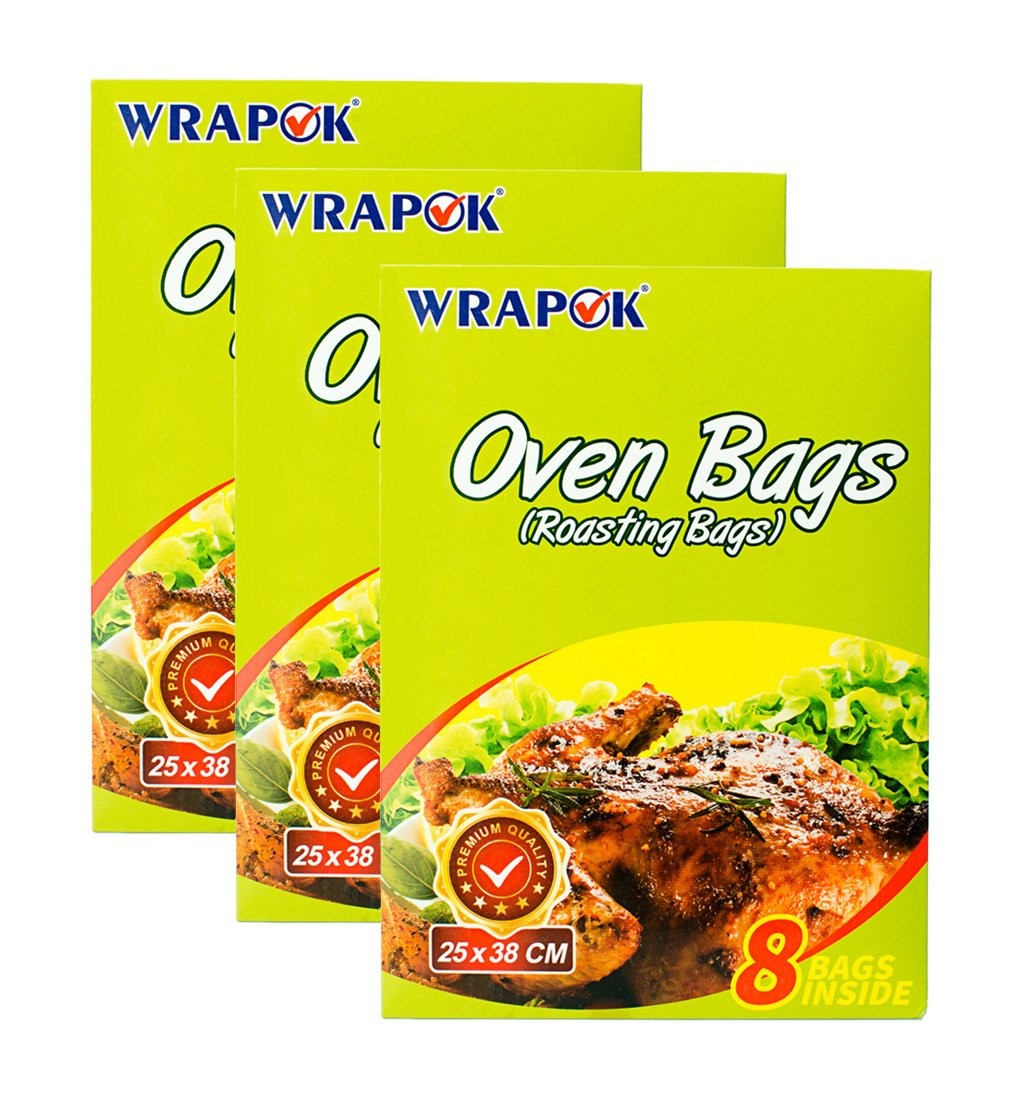Amazon Wrapok Cooking Oven Bags Small No Mess Roasting Bags For