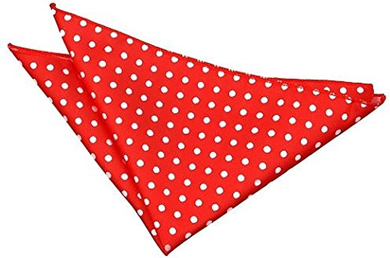 11 Colours Available DQT Woven Polka Dot Patterned Fashion Casual Pocket Square Handkerchief