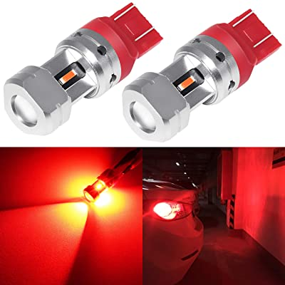 Phinlion 7440 7443 LED Red Brake Light Bulb 3600 Lumens Super Bright T20 7442 7444 Dual Filament LED Bulbs for Tail Stop Turn Signal Blinker Lights: Automotive