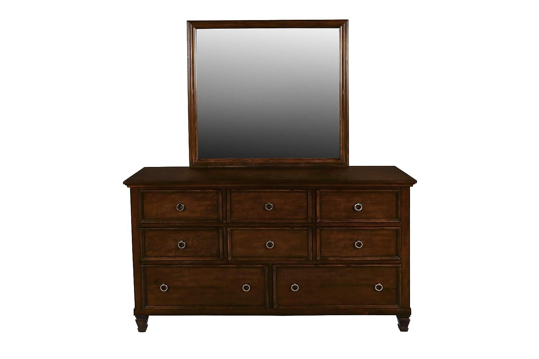 New Classic Furniture Tamarack Dresser, Brown Cherry