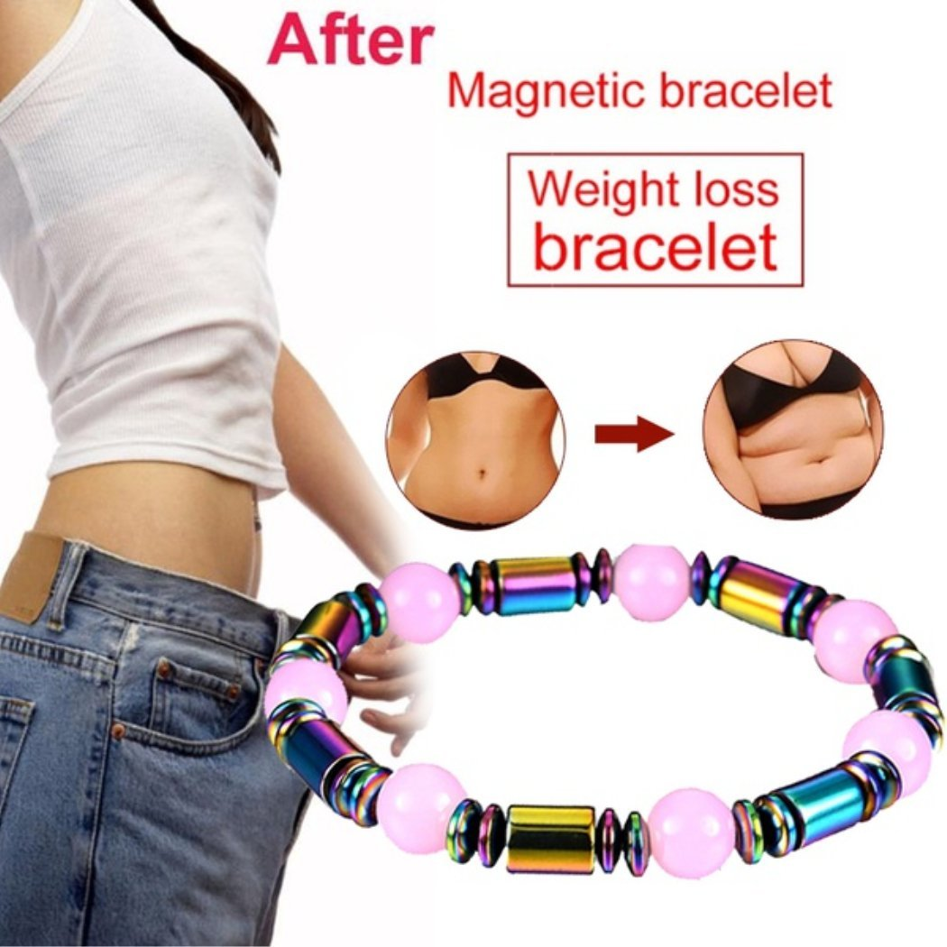 BoBoLing Multicolor Magnetic Beaded Bracelet Effective Pain Relief Reduce Weight Weight Loss Bracelet