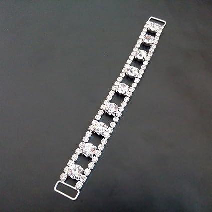 3ba7150cfc3f6 Amazon.com  Tangpan 9 Diamond Crystal Bikini Connector Shoes Buckle ...