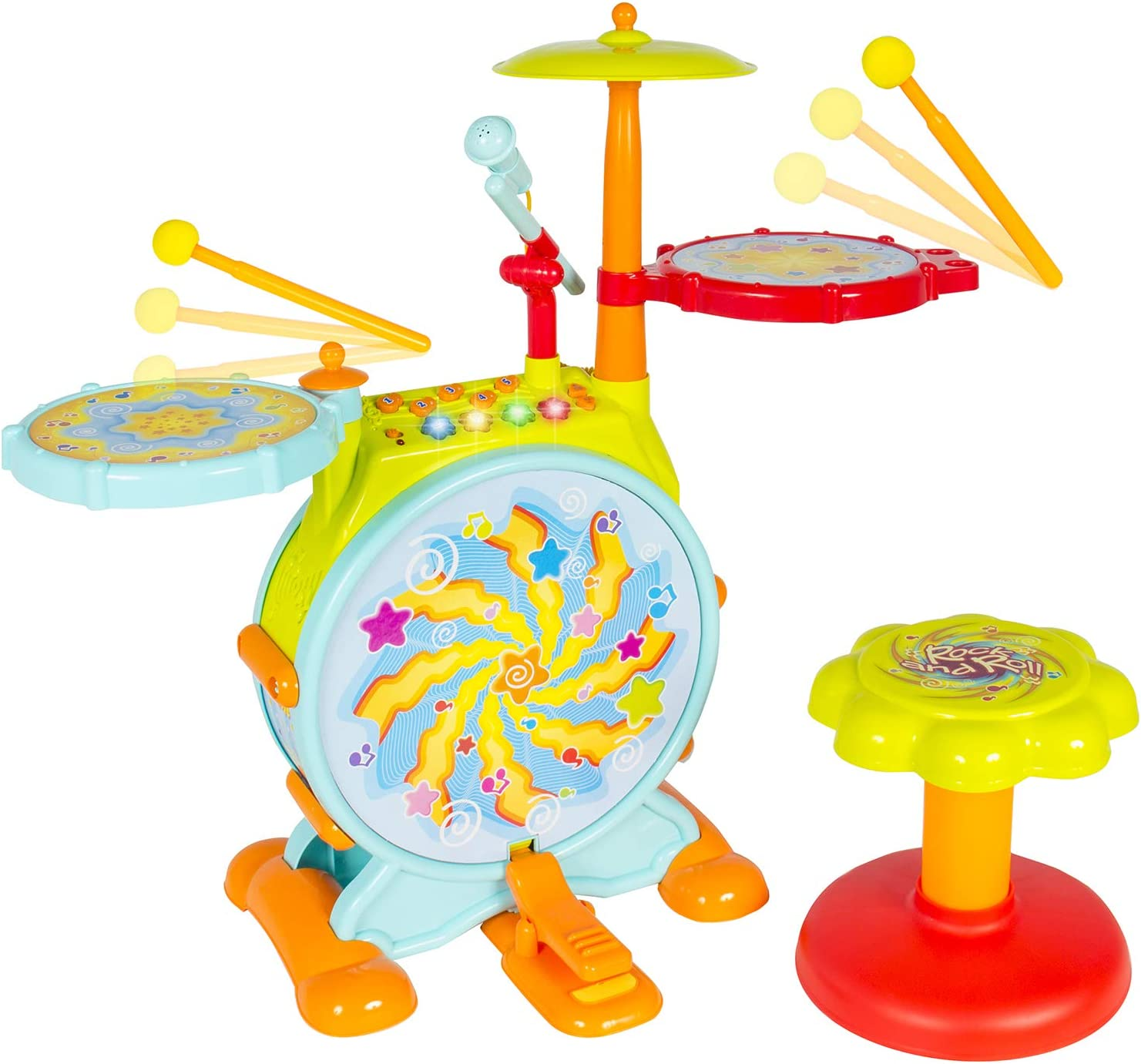 Best Choice Kid's Drum Set – Best for 3+ year kids