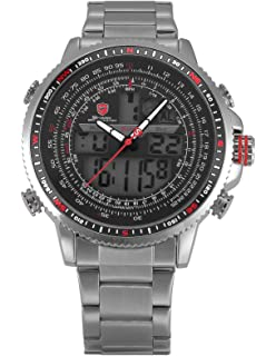 SHARK hombre deportivos Cuarzo relojes de pulseras Acero ...
