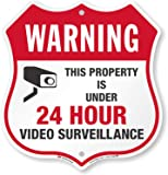 "SmartSign""Warning - This Property is Under 24 Hour Video Surveillance"" Sign 
