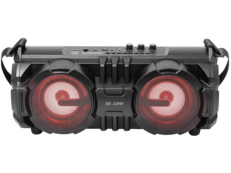 Trevi XR 190 BT 24 W Stereo Portable Speaker Black - Altavoces portátiles (2.0 Channels, 24 W, Wired & Wireless, Micro-USB, Stereo Portable Speaker, Black)