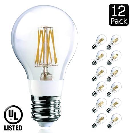 luxrite lr21238 Edison filamento LED de 7 vatios Bombilla, sustitución de la bombilla incandescente de