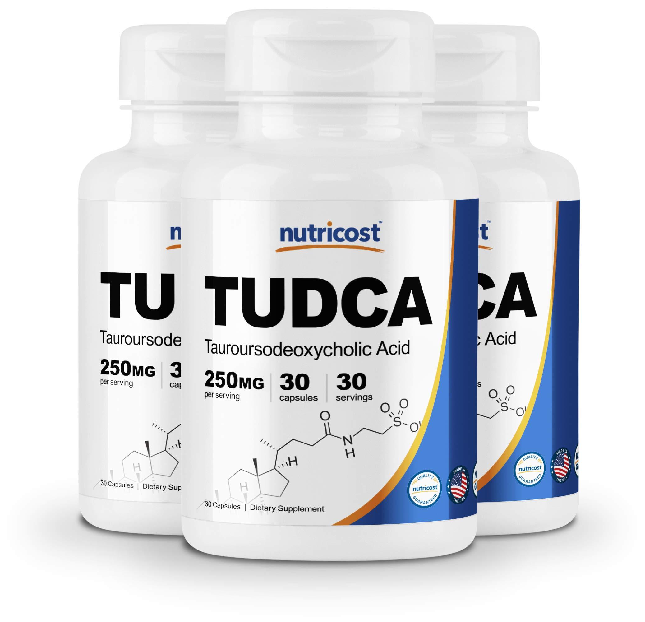 Nutricost Tudca 250mg, 30 Capsules (3 Bottles)
