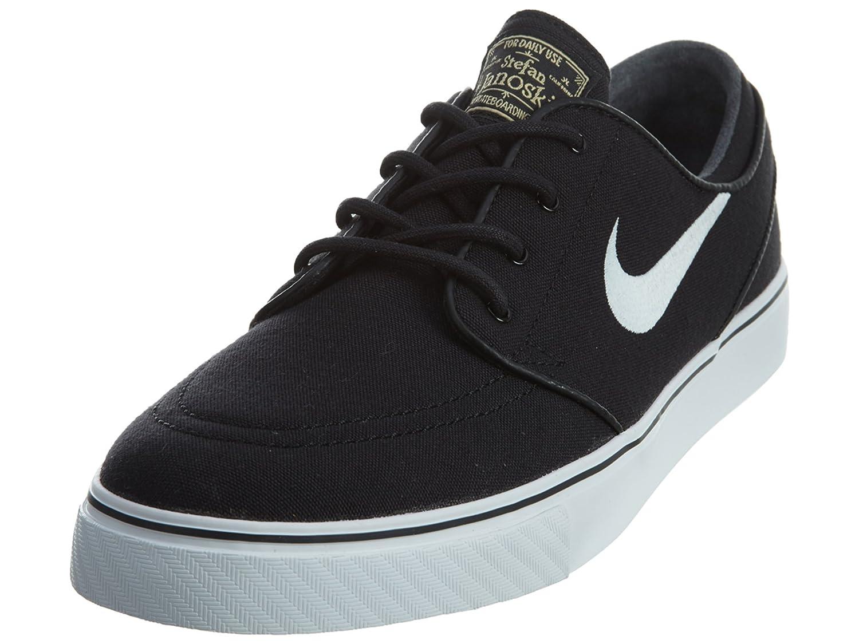 Amazon.com | Nike Men's Zoom Stefan Janoski Cnvs Blk/white/gm Lght Skate  Shoe (4) | Fashion Sneakers