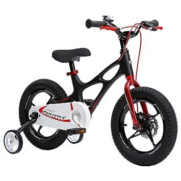 Royal Baby Space Shuttle - Bicicleta infantil para niños con ruedas de entrenamiento y soporte de