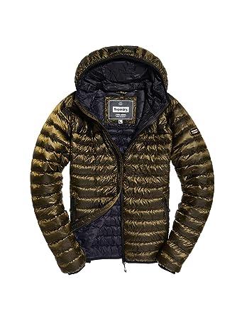 cf5ba2720 Superdry Men's Core Down Hooded Jacket Sports: Amazon.co.uk: Clothing