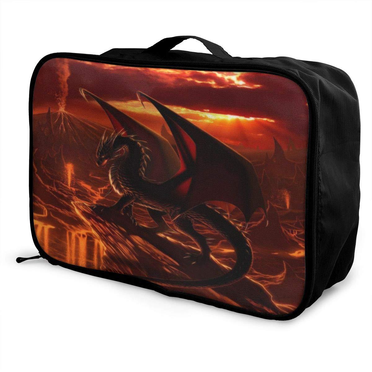 Cheny God-Zilla Travel Duffel Bag Lightweight Waterproof Large Capacity Portable Luggage Bag