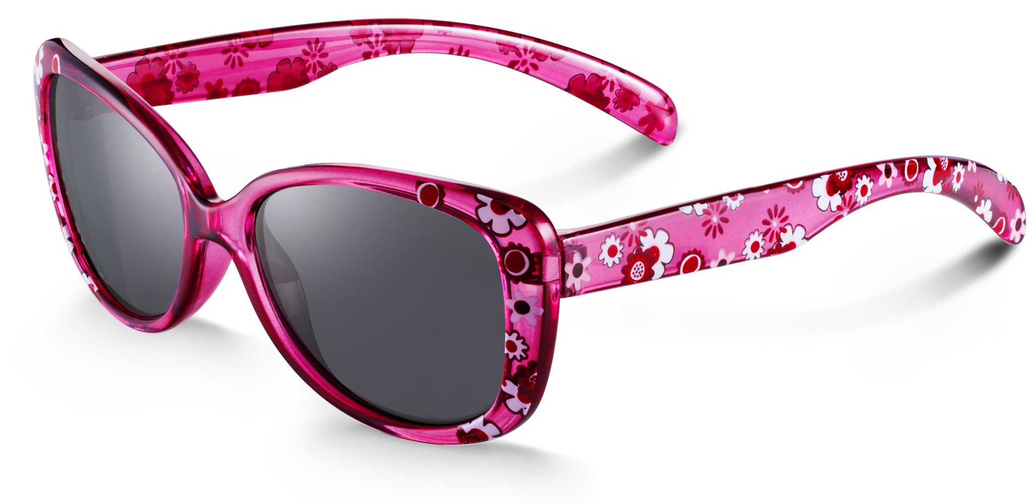 Blossom Shiny Crystal Cute Sunglasses for Girls Age 2-8 - 100% UV400 Protection Reduces Glare
