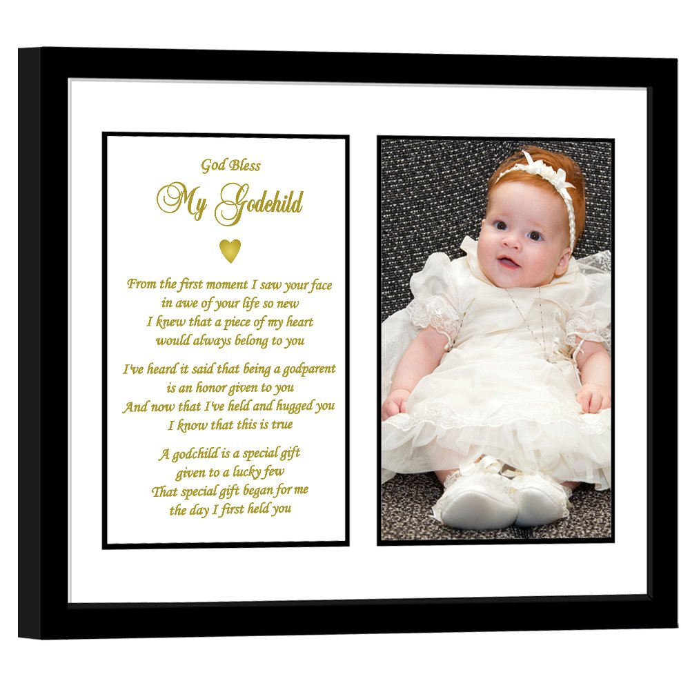 Baptism Poetry Gifts Gift from Godmother to Godchild for Christening Birthday Add Photo to Frame