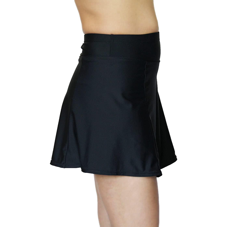 86fc3176923 TEMA Athletics Women s Plus Size High Waisted Compression Swim Skirt Bottom
