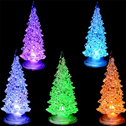 christmas gift lightelaco colorful fiber optic tree christmas led home party xmas decoration