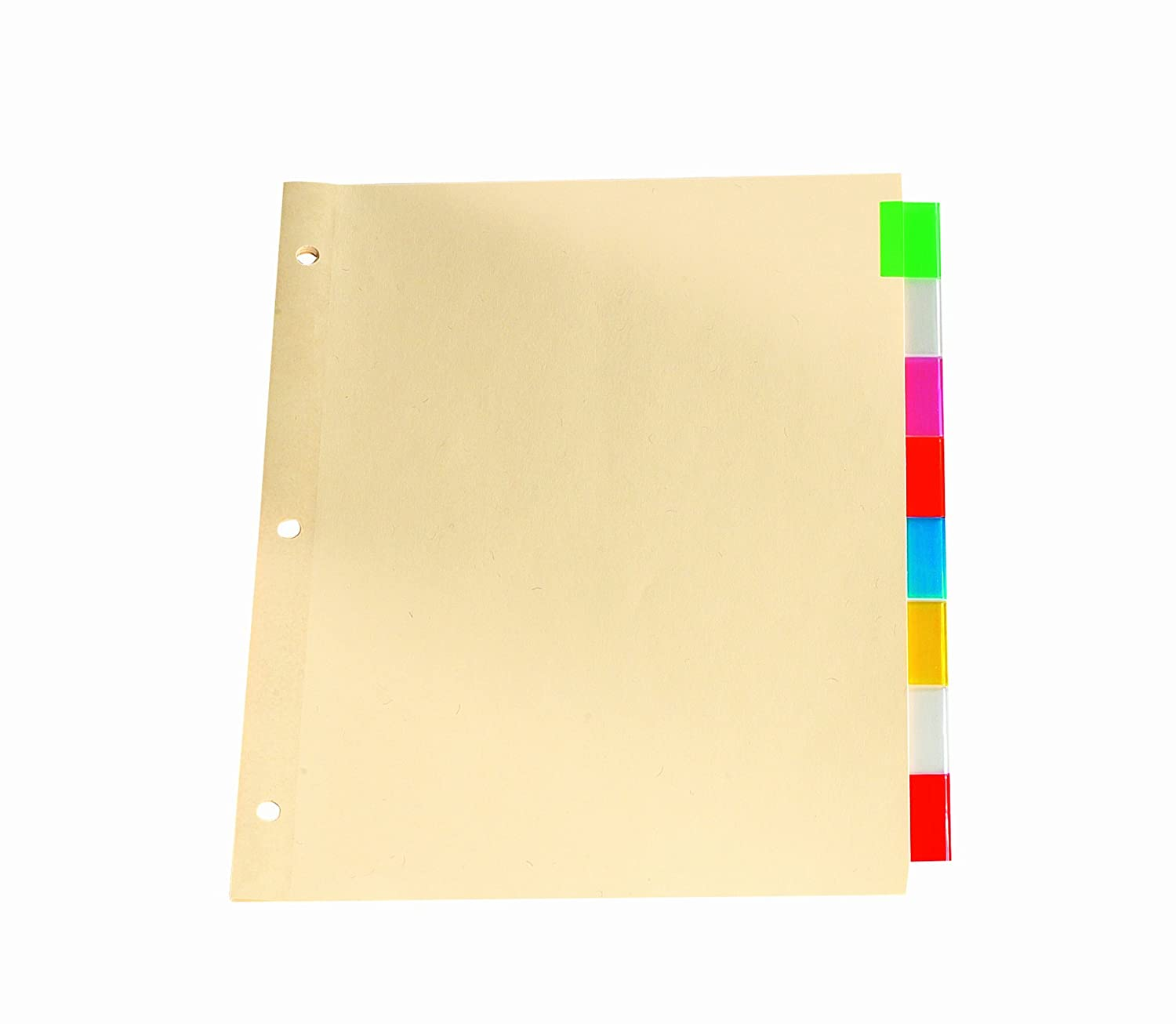 Oxford Premium Insertable Tab Dividers, 8 Tabs, Letter, Assorted R-213-8A