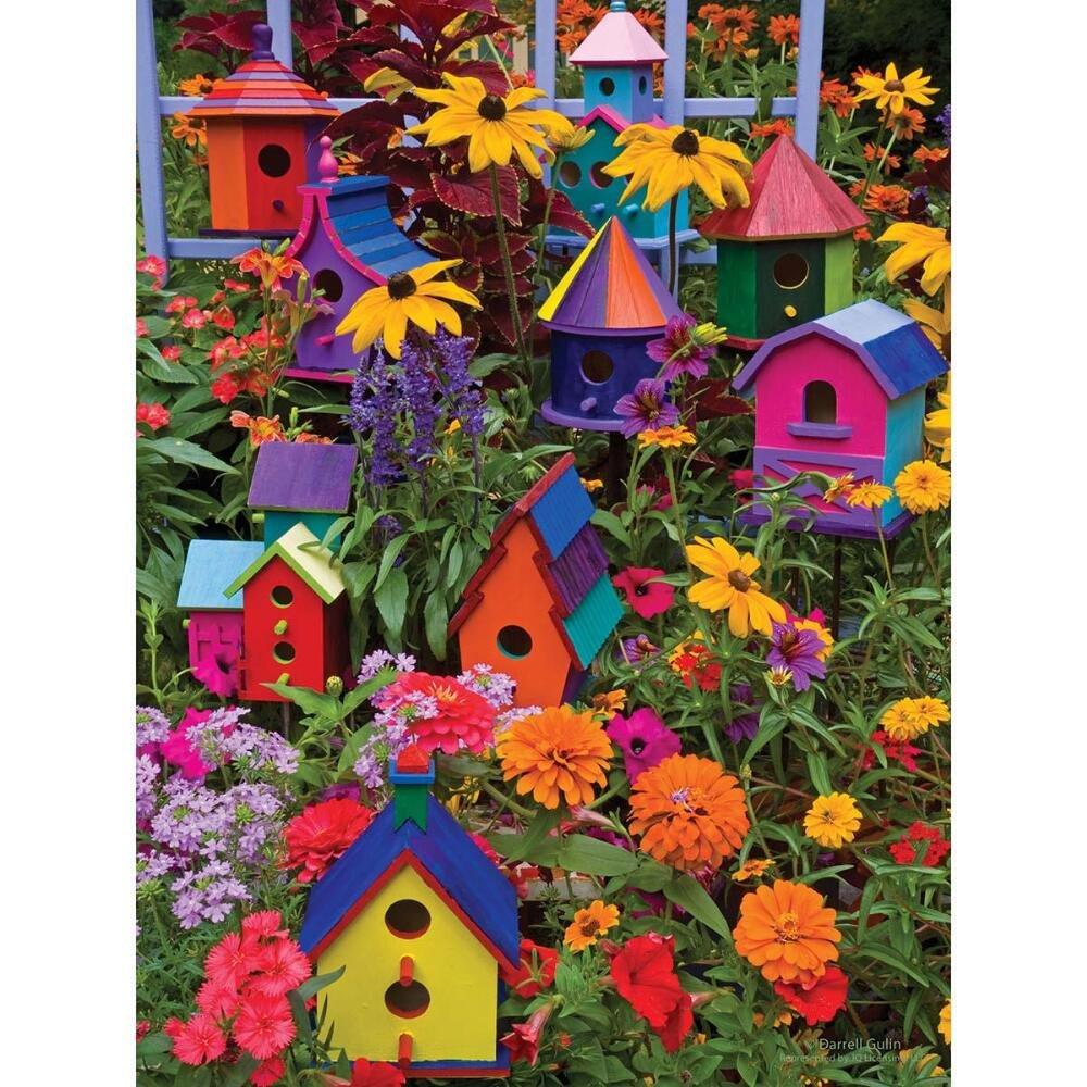 Cobble Hill 54345 - Gulin  Birdhouses - puzzle con pezzi XXL 275 pezzi