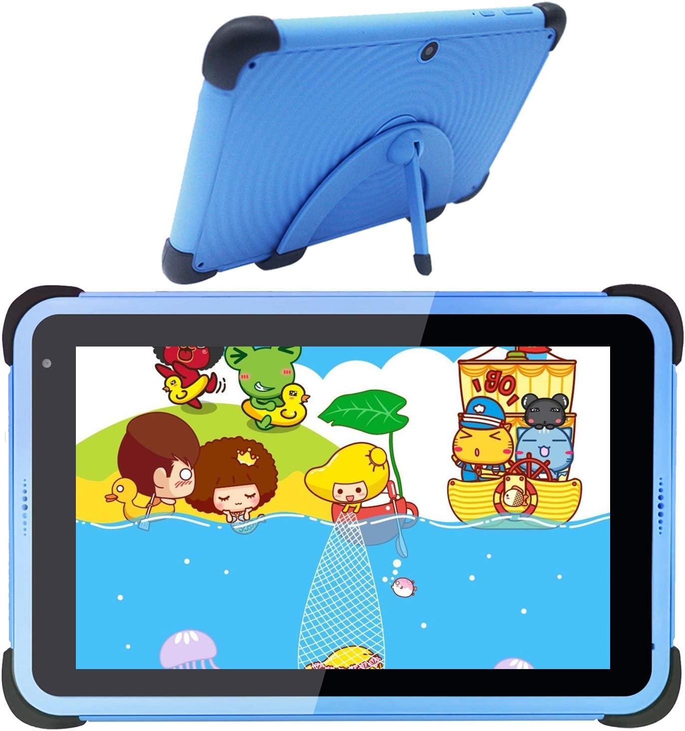 Kids Tablet 7 Pulgadas WiFi Android 10 Tablet PC 2021, 2GB RAM 32GB ROM, Tablet para niños, niños pequeños, Tableta de Aprendizaje, Funda a Prueba de niños con Soporte (Azul)