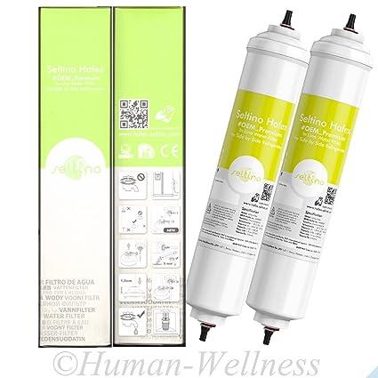 2 x Hafex compatible con filtro de agua y a los rayos ultravioleta-estériles Samsung DA29