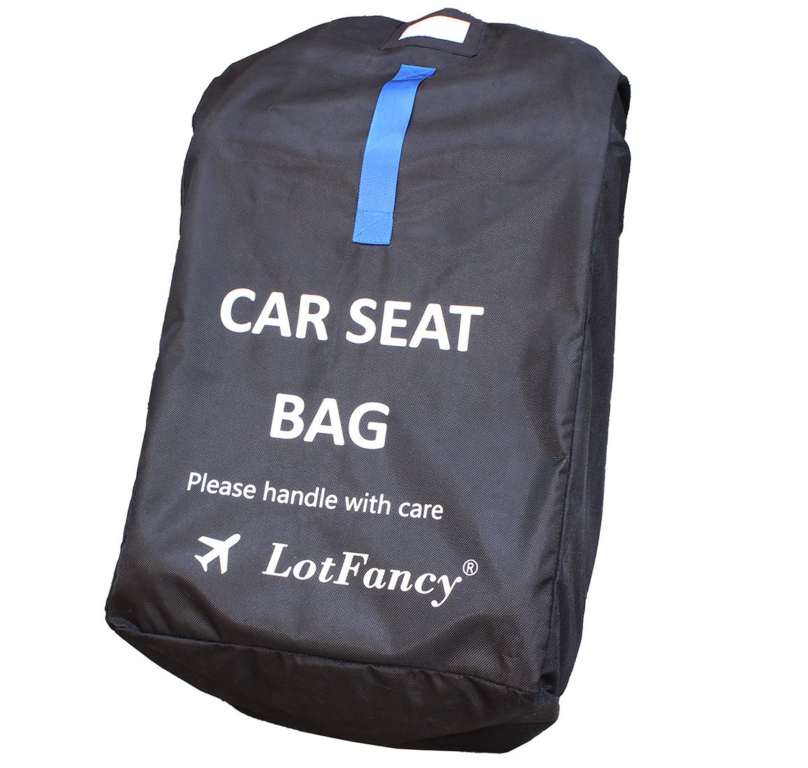 LotFancy Car Seat Travel Bag with Shoulder Straps & Zipper Pouch, Ideal for Airline Gate Check, Durable & Water-resistant (Size 18 x 18 x 34 inch)