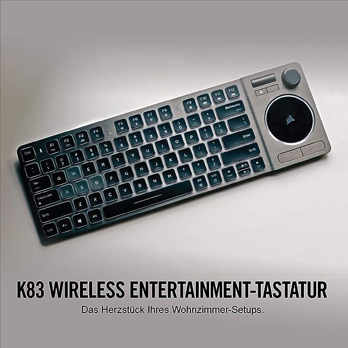 Corsair K83 Wireless Entertainment Tastatur Schwarz Computer Zubehör