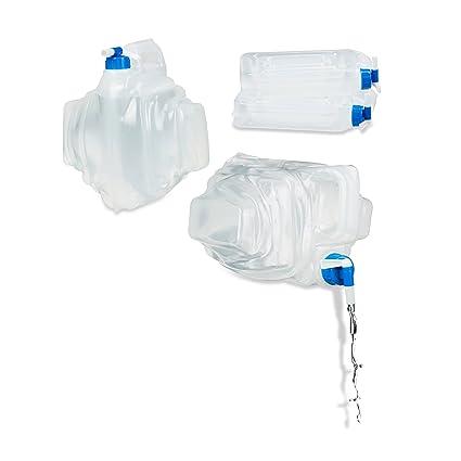 Relaxdays – Bidón de agua para camping, juego de 4 unidades, sin BPA,
