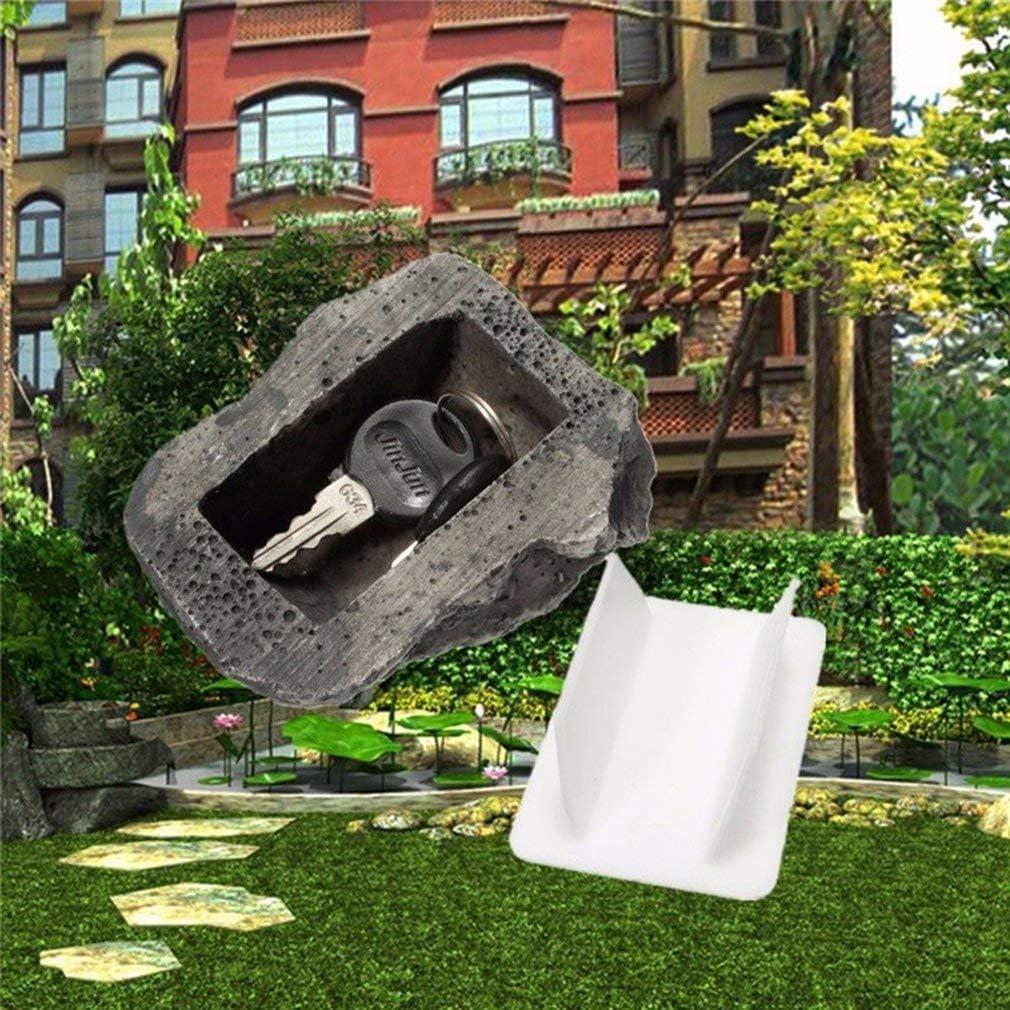 patio geocaching dinero oculto de piedra piedra de simulaci/ón segura llave de dinero privado para jard/ín al aire libre #N//A Caja de almacenamiento de llaves de seguro antip/érdida