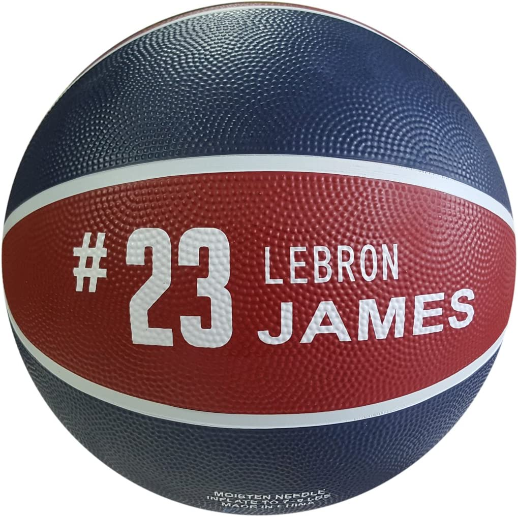 iSport Gifts James Basketball ✓ Size 5 for Kids /& Adult ✓ Premium Gift Lebron Basketball ✓ Unique Design ✓ Durable Soft Construction