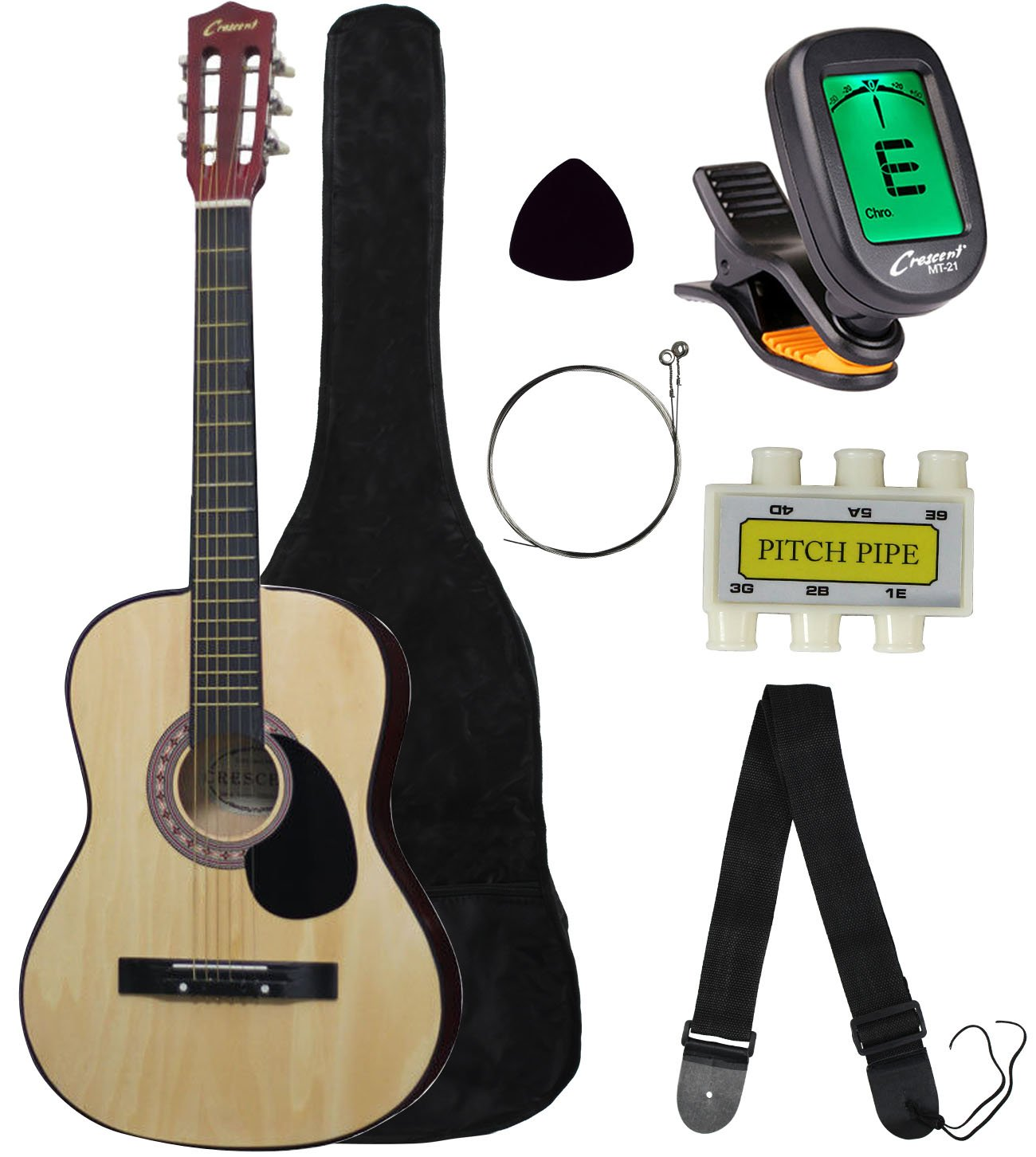 Amazon Crescent Mg38 Bu 38 Acoustic Guitar Starter Package
