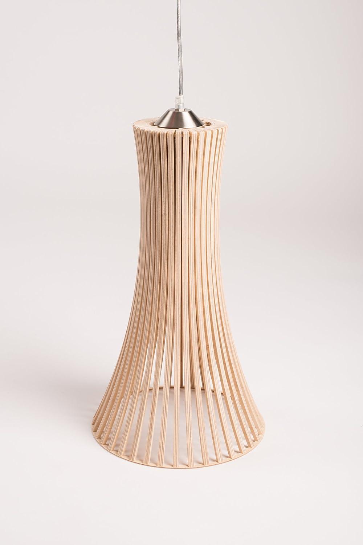 MK Design, Holz Pendellampe Pendelleuchte Hängelampe Kavia XL Natur