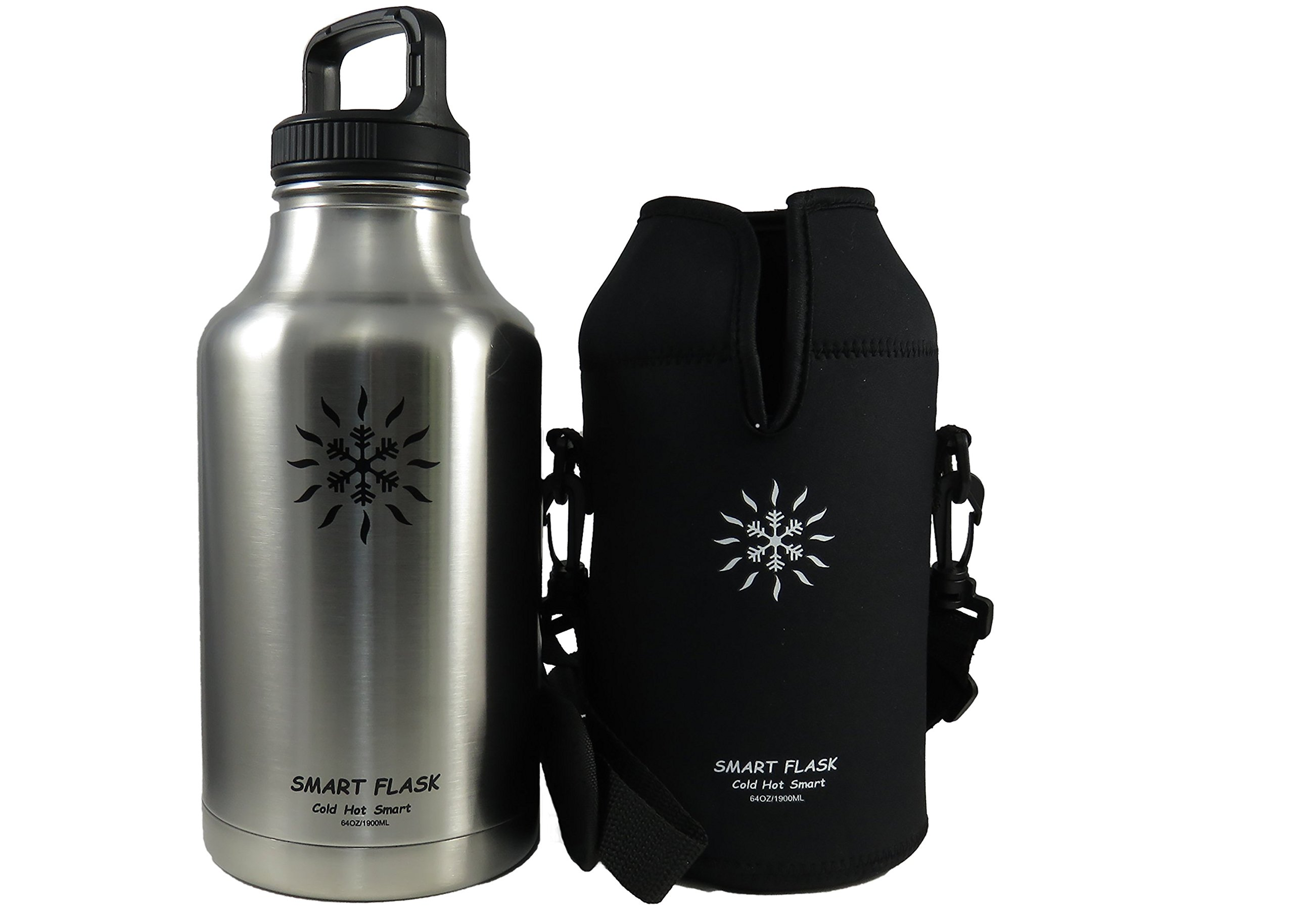 Smart Flask 64oz Beer growler (Stainless Steel)