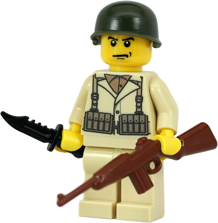 Custom WW2 LEGO M2 Helmet for world war 2 army military brick minifigures