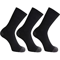 Closemate Mens Cushion Crew Calf Socks Moisture Wicking Athletic Cotton Socks for Sport Training Work 9-12, 3/6 Pairs