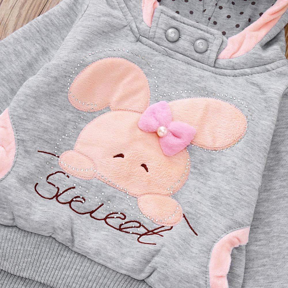 Amazon.com: Toddler Kids Baby Girls Boys Long Sleeve Cartoon Rabbit Hooded Sweatshirt Tops: Clothing