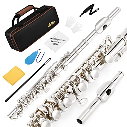 Jz Silver Plated Flute With Case And Cleaning Rod High Safety Musical Instruments & Gear Wind & Woodwind