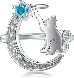 ðøÐñ Real 925 Rose Gold Plated Sterling Silver Cat Ears Midi Ring Summer