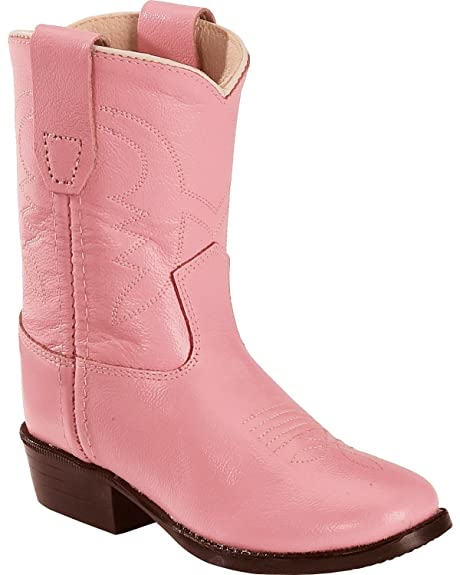 f31e0446072 Old West Toddler-Girls' Cowboy Boot Pink 5.5 D(M) US