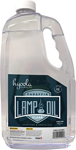 Hyoola 1-Gallon Liquid Paraffin Lamp Oil – Clear Smokeless, Odorless, Ultra Clean Burning Fuel for Indoor and Outdoor Use – Highest Purity Available Candles