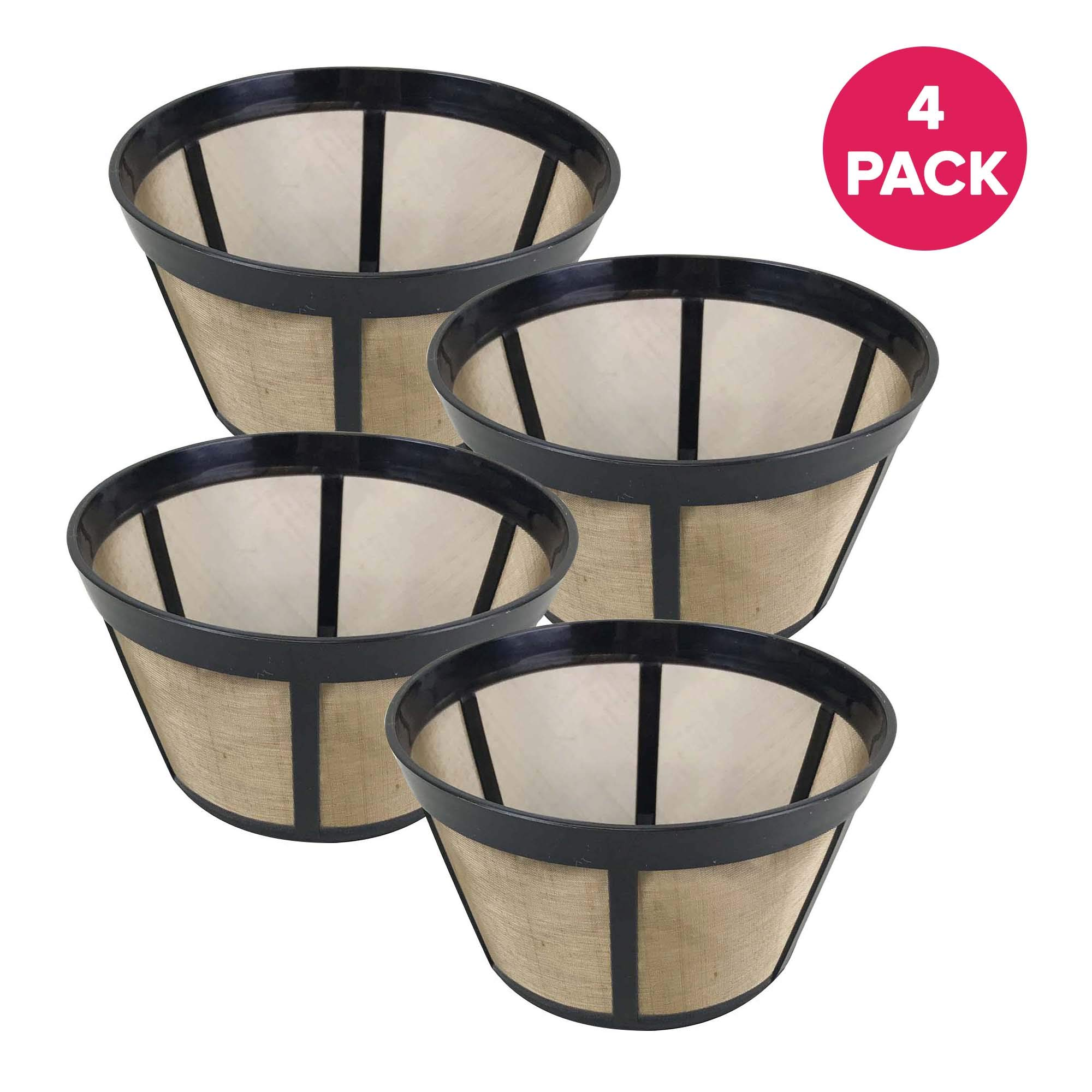 Think Crucial Coffee Filter Basket Replacement - Compatible with Bunn Clever Large Coffee Dripper (18 Ounces) C60666 Parts, Models For Unbleached Natural Brown #2 Paper Coffee Filters - (4 Pack)