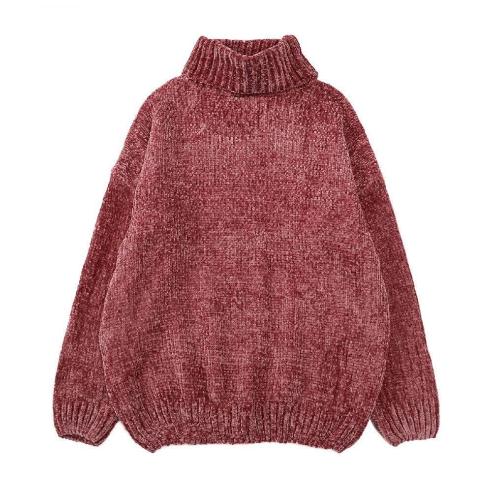 FUHENGMY Pullover Hohe Qualität   Herbst Winter Frauen Chenille Gold Rollkragenpullover   Gestrickte   Pullover   Weiblich